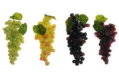 N°1 Grappolo H.15 Cm Mini Uva Chicco 10 Mm Frutta Artificiale