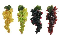 N° 1 Grappolo 19 Cm Uva Media Chicco 13 Mm Frutta Artificiale