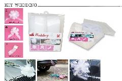 N°1 Kit Decorazione Wedding Nastro Splendene Con Appendino