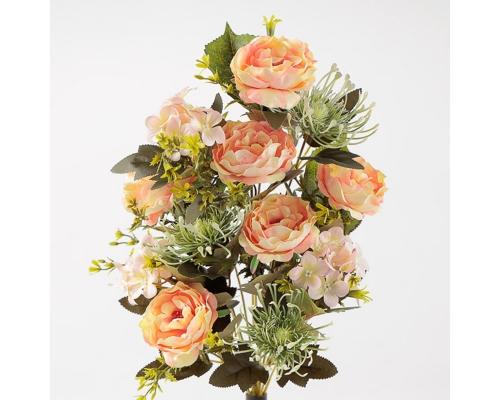 Busch Rose Frontale English Rose Fiori Artificiali Effetto Realistico