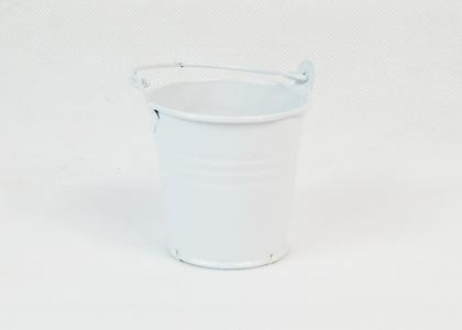 Secchiello Latta D.6 H. 5.5 Cm Bianco