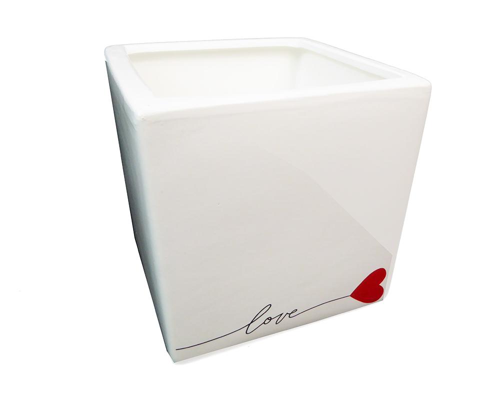 Cubo Love 12x12x12 Cm Contenit...