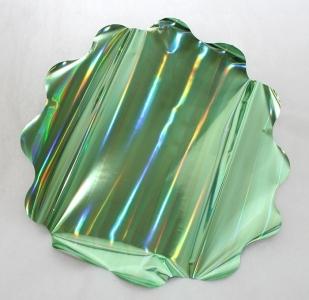 25 Sottovasi Ologramma Verde Diametro 50 Cm 35 My
