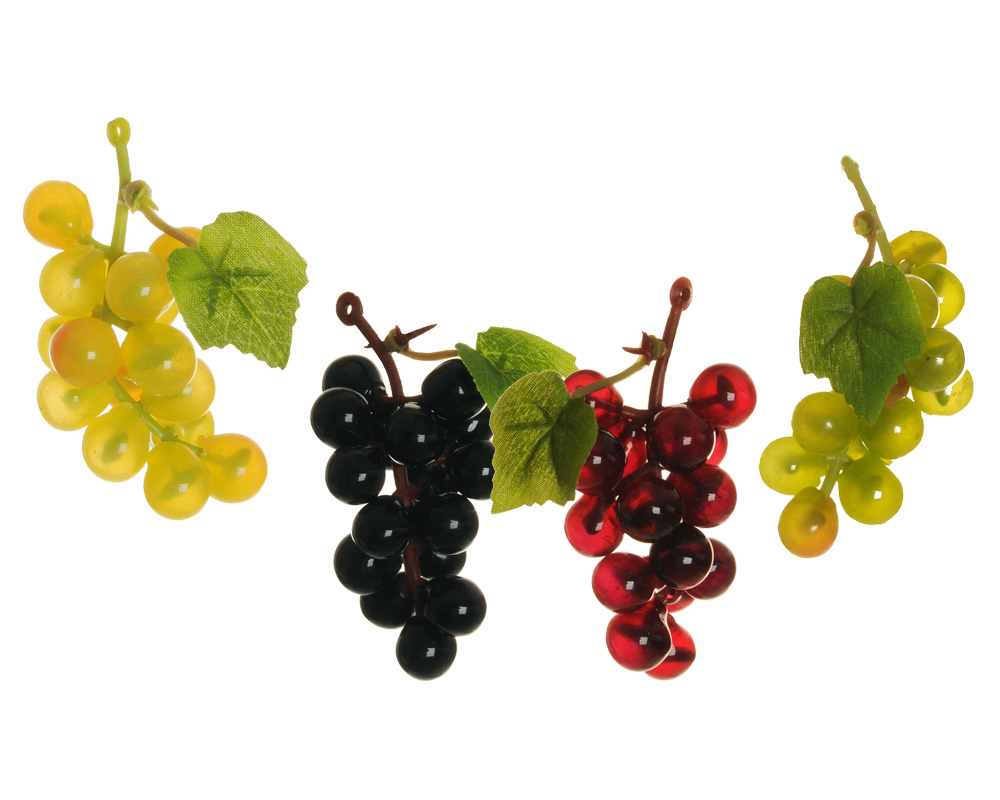 Pz 6 Grappolo Uva Ultra Mignon 7 Cm Frutta Artificiale Decorativa Autunno