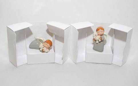 Angioletto Perla Con Scatola Porta Confetti