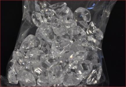 Sassolini Ghiaccio Sintetico Acrilico Trasparente 500gr 2035mm Diametro