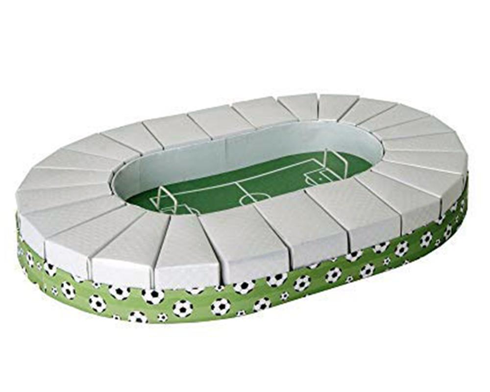 Torta Stadio Campo Da Calcio 32x45 Cm Con 24 Scatoline Portaconfetti
