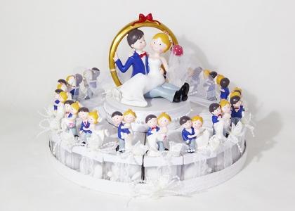Torta Bomboniere Confettata Sposini Wedding 18 Fette Piu 1