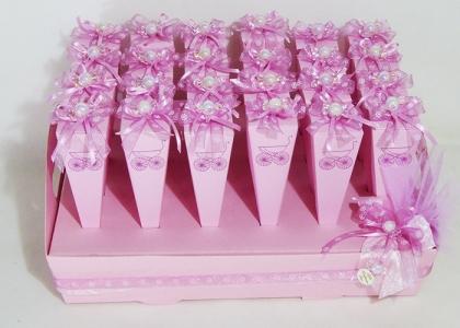 Torta Bomboniere Battesimo Caramelle 24 Coni
