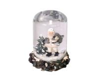 Palla Vetro Babbo Con Neve D. 11 H. 14,5 Decorazione Natale