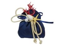 Bomboniera Sacchetto Blu Corallo Rosso Mare