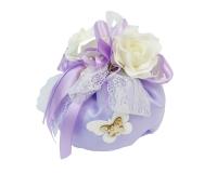 Bomboniera Sacchetto Grande Lilla Lavanda E Farfalla Gesso Wedding
