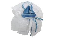 Bomboniera Mare Barchetta Blu Ceramica