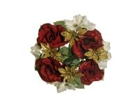 Girocandela Rose Ortensie D 16 Cm 5 Decorazione Natale