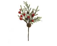 Pick Pino/bacche Pigne Grande Pz 12 Decorazione Natale