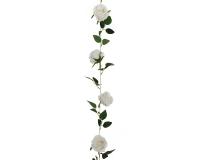 Ghirlanda Rose 220 Cm 9 Teste Di Rosa Fiori Artificiali