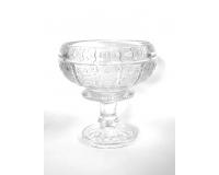 Coppa Intagliata D. 18 H. 20,5 Bohemia Decorazione Matrimonio