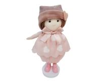 Bambolina Con Cappello H. 12 Applicazione Bomboniera Bimba