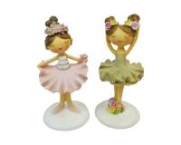 Ballerina Spring Cm 12,6 Pz 2 Decorazione Bomboniere Bimba