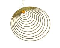 Decorazione Cerchio Glitter Oro Natale Arredo