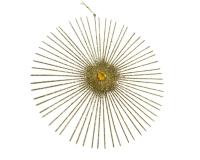 Decorazione Stella Stilizzata Glitter Oro Linea Natale