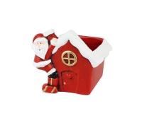 Casetta Babbo Natale Terracotta 10,2x9 H. 10,2 Vaso Decorativo