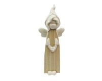 Angelo Porcellana/legno Cm 27.5 Decorazioni Comunione Cresima