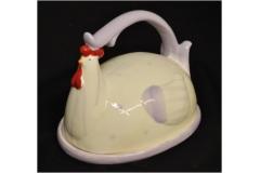 Gallo Burriera Ceramica Piattino Decorazion
