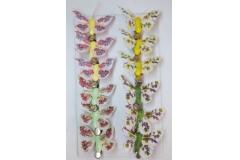 Farfalle Flores Con Molletta 10 Cm 12 Pezzi