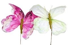 Farfalla Gigante 30 Cm C/stecco Cm 71 Decorazione Primavera/pasqua