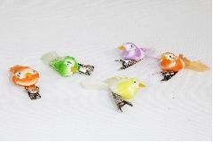 Pz 12 Uccellini Cm 4 Colorati Ass. Decorazione Primavera/pasqua