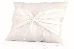 Cuscino Portafedi Bianco 20x20 Cm Elegant Arredo Addobbi Matrimonioa