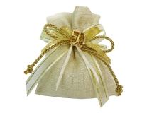 Bomboniera Sacchetto Wedding Matrimonio Nozze Oro 50 Punti Luce