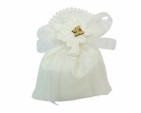 Bomboniera Sacchetto Bianco Matrimonio Albero Della Vita