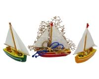 Bomboniera Barca Legno Linea Mare Con Ancora E Rete Matrimonio Wedding