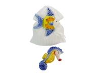 Bomboniera Matrimonio Sacchetto Linea Mare Pesce Ceramica