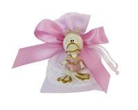 Bomboniera Battesimo Nascita Comunione Bambina Paperella Ceramica