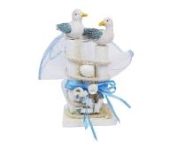 Bomboniera Matrimonio Nozze Sacchetto Linea Mare Ancora Albatros