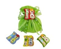 Bomboniera Sacchetto Cotone Verde Diciottesimo 18 Ceramica