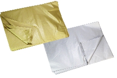 Pz 100 Carta Velina 50x75 Cm Oro O Argento Confezionamento Incarto Regalo