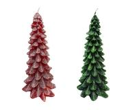 Cero Albero Natale H.20 D. 11 Glitter Decoro Arredo Natalizio