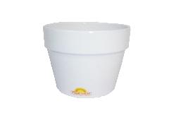 Vasetto Bianco D.12 H.12 Cm In Cotto Contenitore Decorazione Arredo