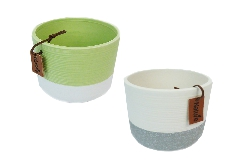 Cachepot Vaso Contenitore Nature 10,5xH.10 Cm In Ceramica Colorata