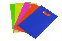 Pz 100 Sacchetti Fustellati Assortiti 20x32 Cm 5 Colori Incarti Confezionamento