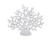 Corallo Bianco Resina 44x8x36 Decorazione Tema Mare Estate