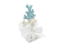 Bomboniera Matrimonio Linea Mare Corallo Blu Bianco Scatolina