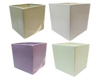 Cubo Ceramica 16,5x16,5x16,5 Composizioni Floreali
