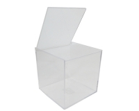 Scatola Plexiglass Quadra 6x6x6 Cm Trasparente Bomboniere Fai Da Te