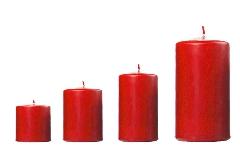 Cero Candela Laccato Rosso Piccolo D.4 H.6 Cm Decorazione Natale
