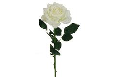 Rosa Bianca Charlotte Alta 76 Cm Fiori Artificiali
